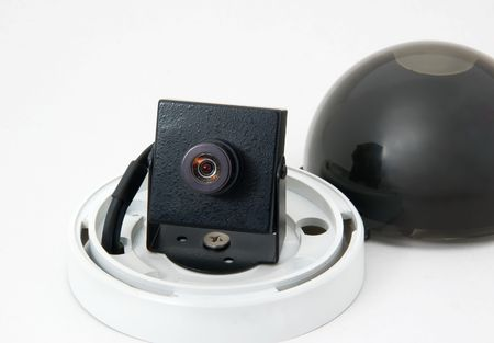 Monitoring camera and protective covering in the studio Stock Photo - 3585615