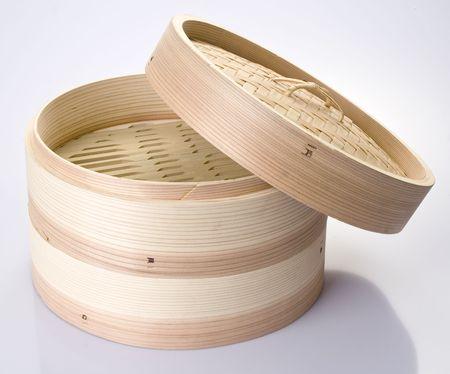 japones bambu: Vapor de bamb� aisladas en blanco