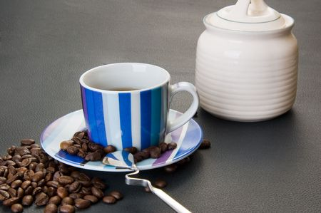 A set of household utensils for coffee photo