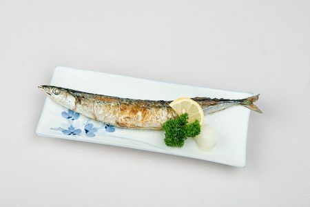 Grilled fish in a restaurant photo