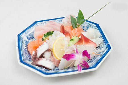 Japanese food seafood and radish photo