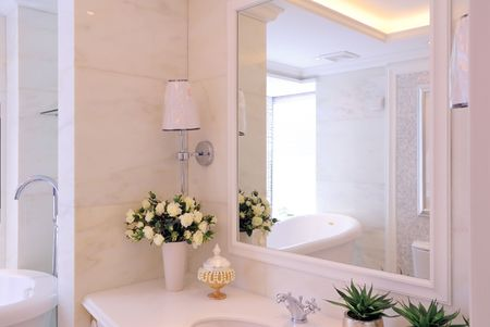 Modern contemporary style bathroom.  photo