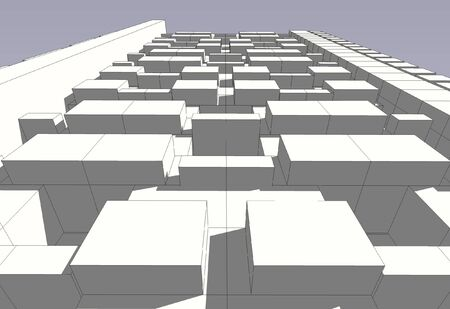 Part of 3D model for a new building photo