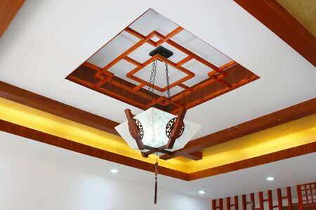 Pendant lamp and decoration in a new house. photo