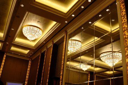 classic light bulb: Crystal chandelier  Stock Photo