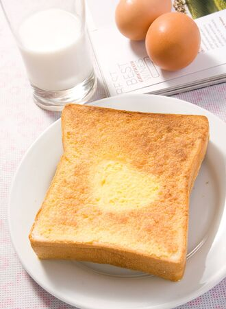 earthnut: Breakfast,included with toast, milk and eggs Stock Photo