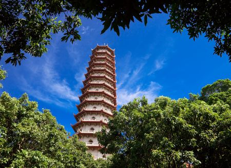 Chinese Pagoda of  Xichan temple in Fuzhou,China. Xichan temple dating from thousand years ago is very famous place for  buddhism in southeast of China. photo