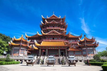 Tempel des Xichan in Fuzhou, China. Xichan-Tempel, die aus tausend Jahren ist sehr berühmter Ort für Buddhismus im Südosten von China.