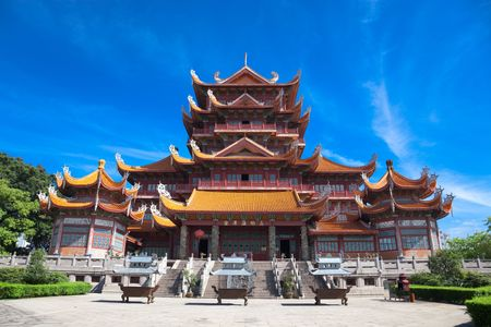 Tempio di Xichan a Fuzhou, Cina. Xichan tempio risalente al mille anni fa è molto famoso posto per il buddismo nel sud-est della Cina.