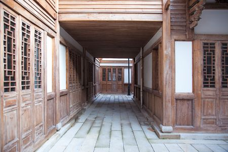 Typical southeastern  chinese courtyard building with a architectural style of the Ming and Qing Dynasties photo