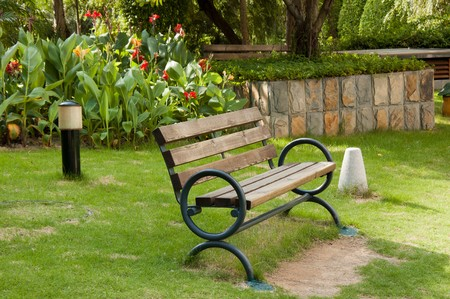Old wooden bench in a yard Stock Photo - 7267472