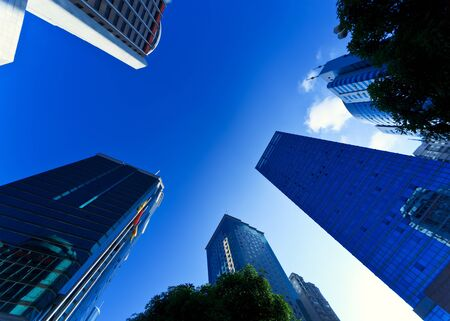 financial district: Modern financial district in a Chinese city
