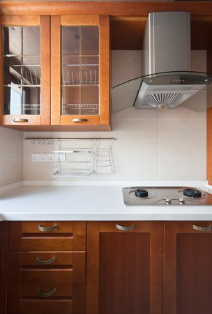New modern kitchen in the apartment.  photo