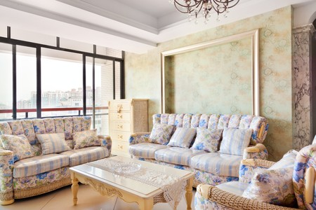 Modern inters,living-room with the modern rattan furniture  Stock Photo - 7938785