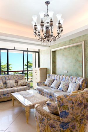 Modern inters,living-room with the modern rattan furniture Stock Photo - 7938787