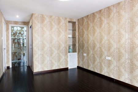 Empty bedroom with droplamp and cabinet after renovation Stock Photo - 7938775