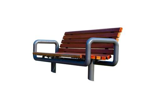 bench park: Banco de Parque aislado sobre fondo blanco.