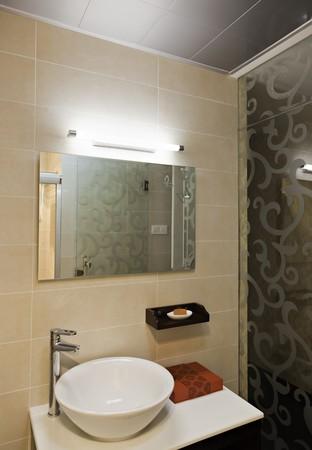 Modern style interior  of a bathroom. Stock Photo - 8127285