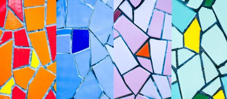 Colorful mosaic tiles for  wall photo