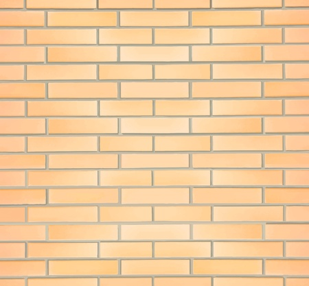 Realistic and detailed illustration of brick wall that can be easily pieced together vertically andor horizontally to make a larger wall. Vector