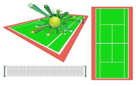 tennis court: tennis design element
