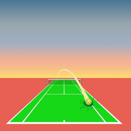 grass line: tennis design element