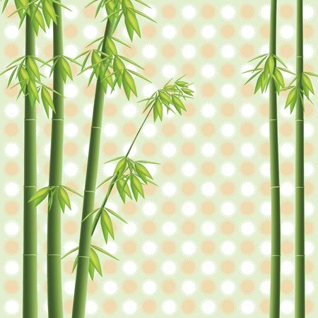 Élément de design en bambou illustration arbre
