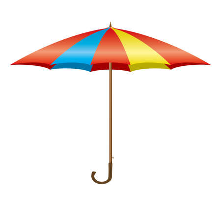 Design element - Colorful opening umbrella Stock Vector - 12485905