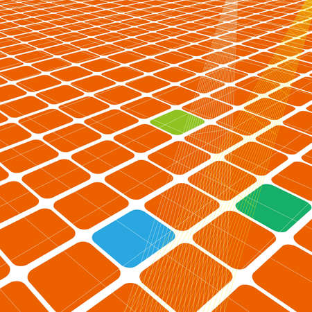 Abstract 3d infinite grid  for business science or technology background Stock Vector - 12631691