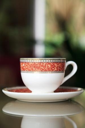 teaset: Coffee Cup on table