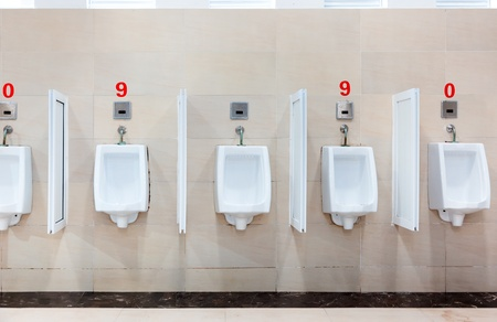 modern restroom interior with urinal row Stock Photo - 13564847