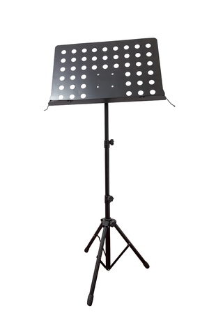 Empty metal music stand isolated on a white background Stock Photo - 13712178