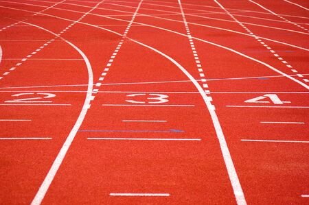sports venue: Turning race track with number