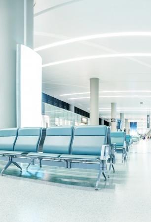 Empty seats in the airport  Standard-Bild