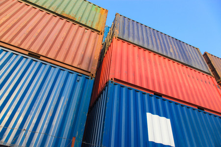 dockside: Stack of Cargo Containers at the docks