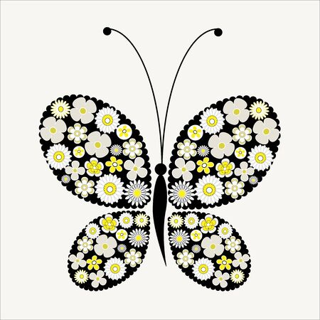 yellow butterfly: This is a conceptual butterfly