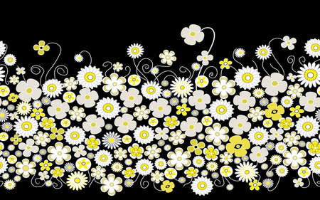 This is a floral pattern, on black background