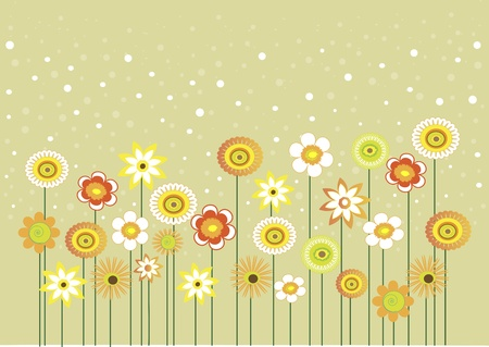 abstract flowers: Here are some flowers with bubbles, can be used as greeting card