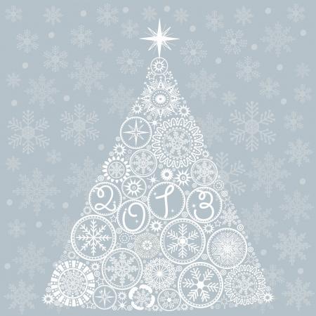 greeting stylized: Christmas tree