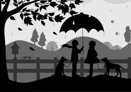 rainfall: Rural landscape