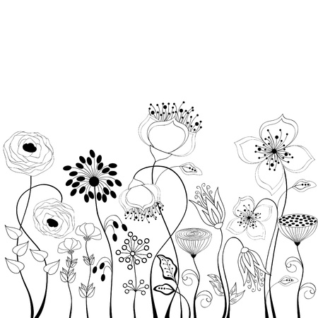 flowers white: Floral background