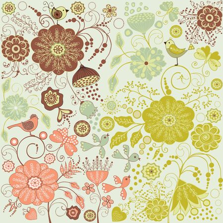 Floral background Stock Vector - 17781626