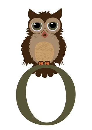 O for Owl Vector