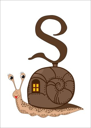 S for Snail Vector