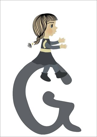 G for Girl Stock Vector - 17991942