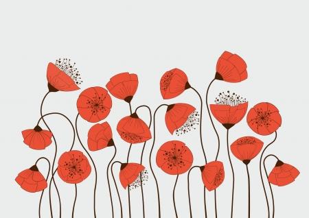 poppy pattern: Poppy flowers