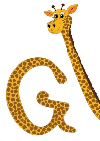 G for Giraffe Vector