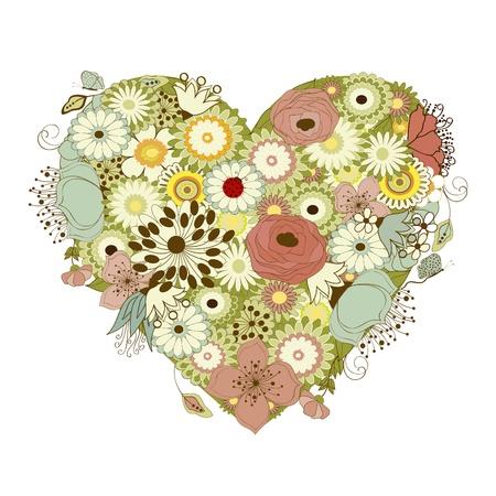 Valentine heart Stock Illustratie