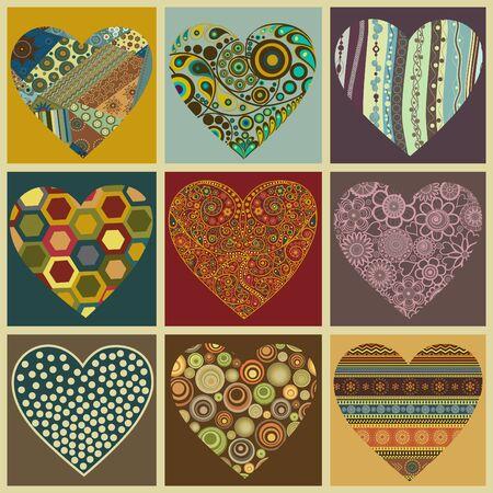 Set Valentine hearts Stock Vector - 18083955