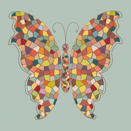 motley: Abstract colorful butterfly